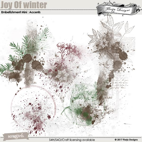 Joy Of Winter Embellishment Mini: Accent by florju designs