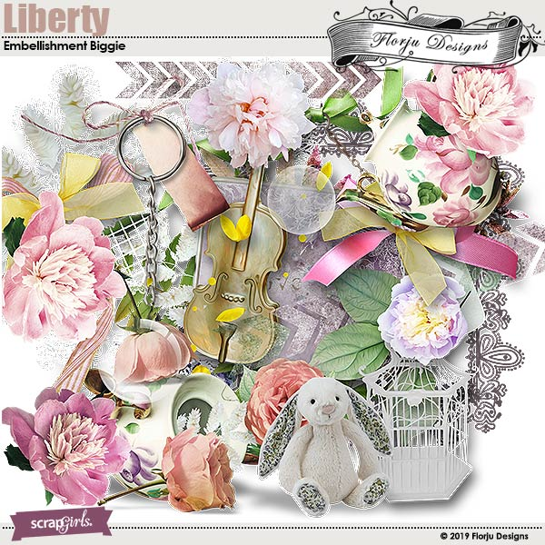 Liberty Embellishment Biggie by Florju Designs