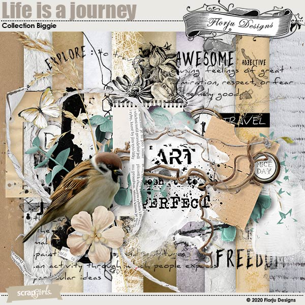 Life is a Journey Collection Biggie by Florju Designs