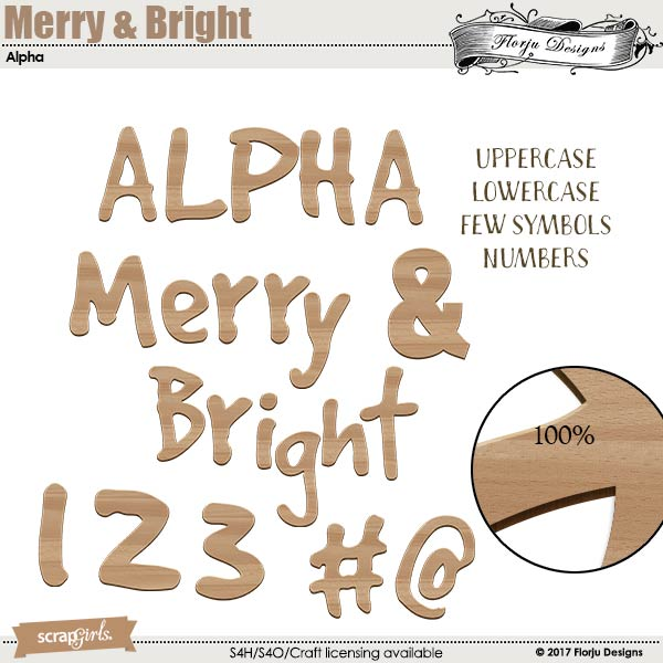 Merry And Bright Alpha by florju designs