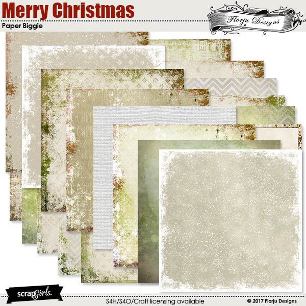 Merry Christmas Papers Biggie by florju designs