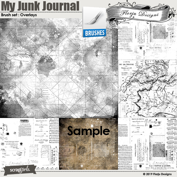 My Junk Journal Overlay by Florju designs