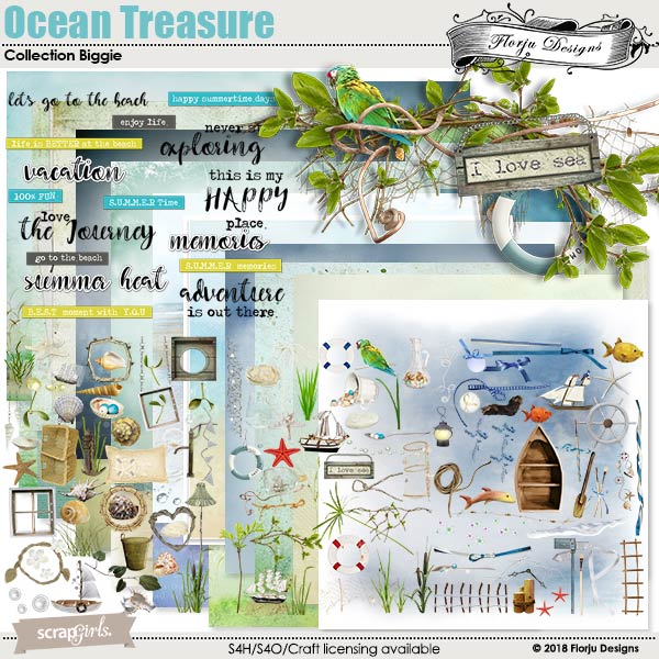 Ocean Treasure Collection Biggie by florju designs