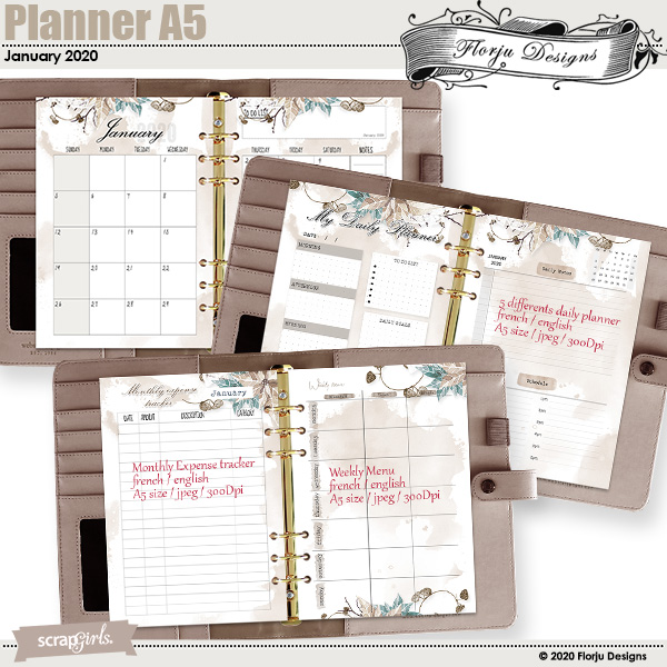 Planner A5 January 2020 by Florju