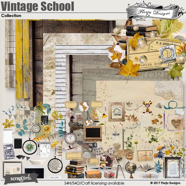 Vintage School Collection by florju designs