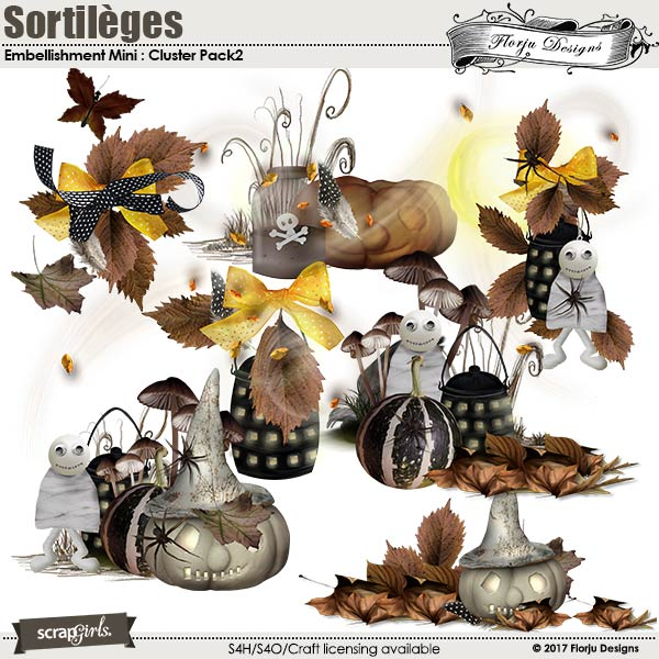 Sortileges Embellishment Mini: Cluster Pack 2 by florju designs
