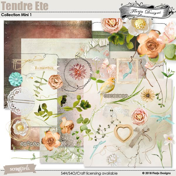 Tendre Ete Collection Mini 1 by florju designs