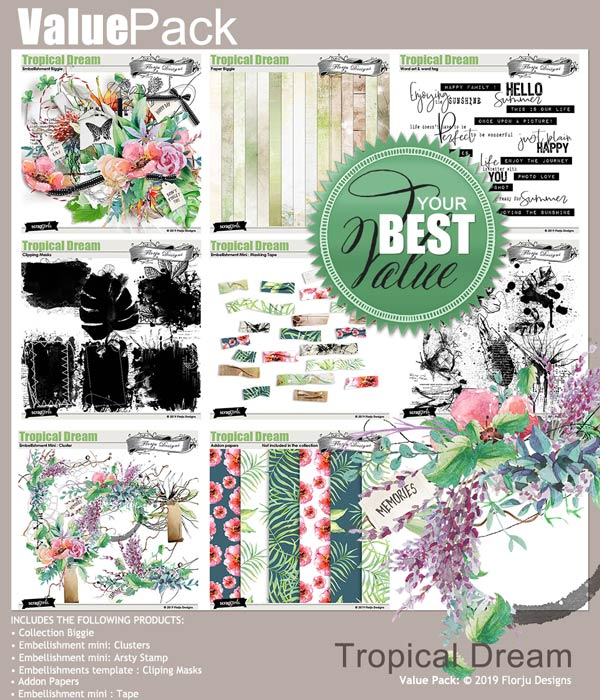 Value Pack : Tropical Dream by Florju designs