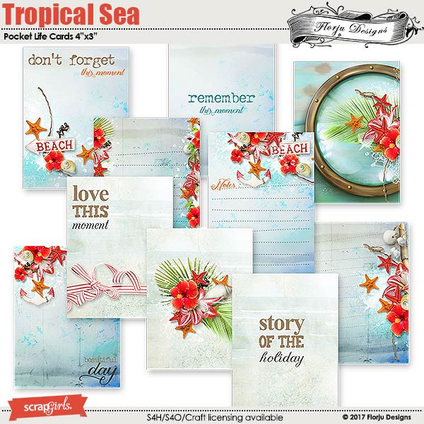 Pocket Life:Tropical Sea  by florju designs