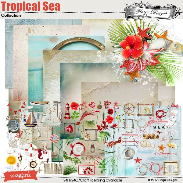 Tropical sea Collection Biggie by florju designs