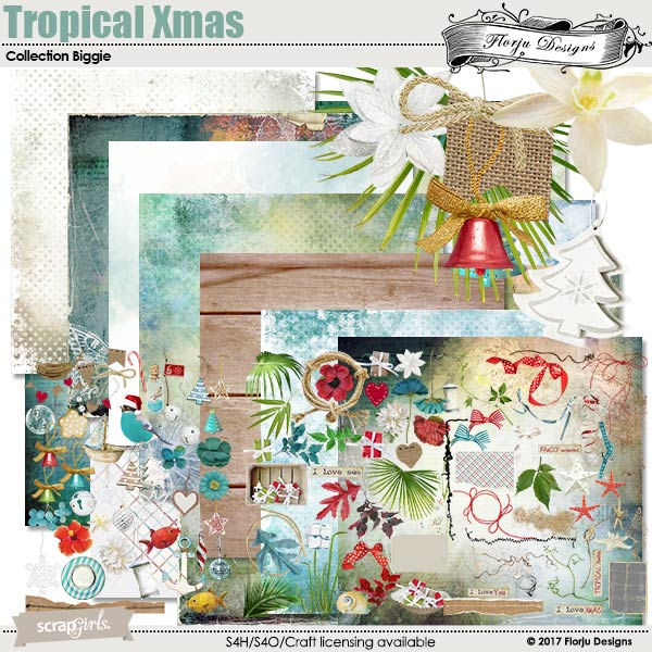Tropical Xmas Collection Biggie by florju designs