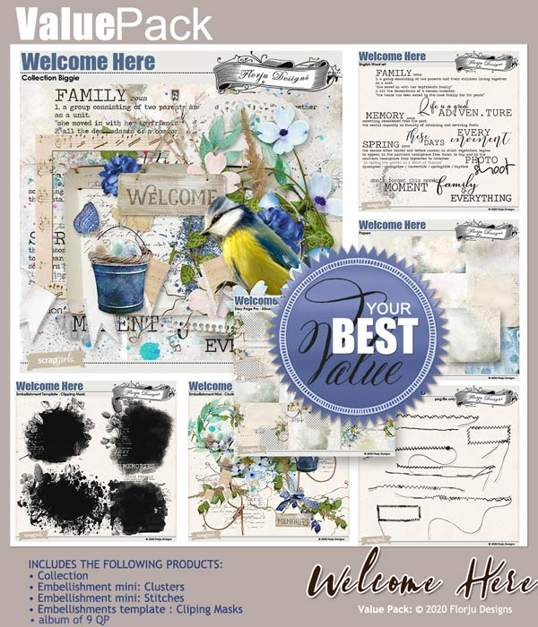 Value Pack: Welcome Here by Florju Designs