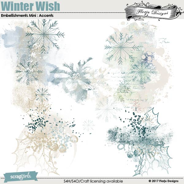 Winter Wish Embellishment Mini: Accents by florju designs