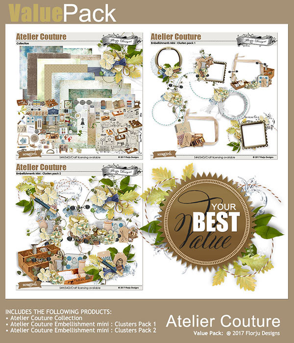 Atelier Couture Value pack by Florju Designs