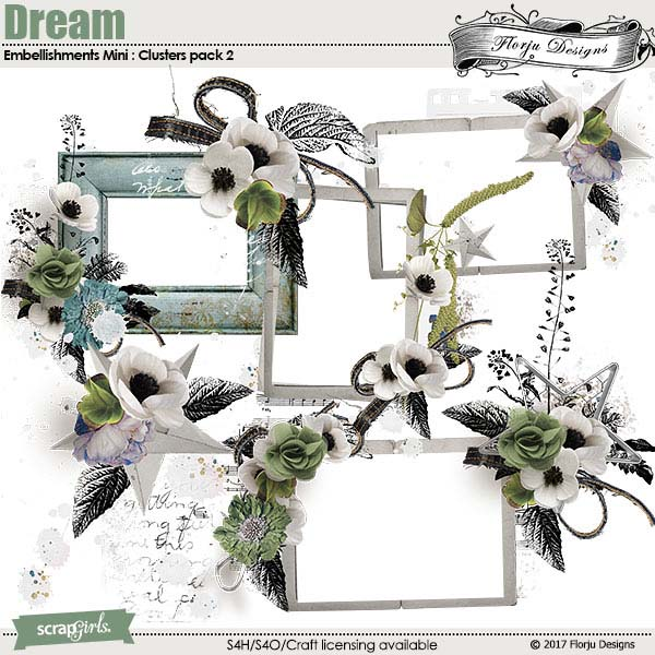 Dream Embellishments mini Cluster Pack 2