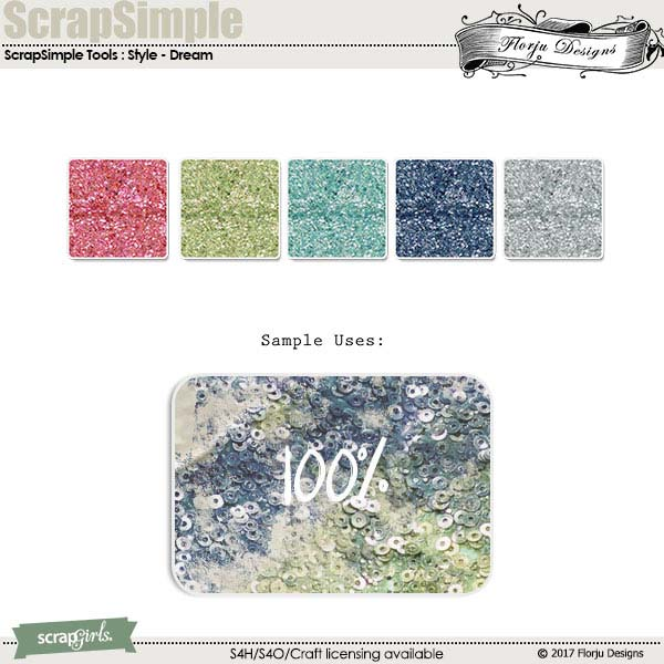 ScrapSimple Tools - Styles: Dream by Florju designs