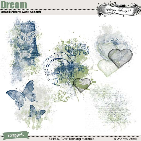 Dream Embellishments Accents by Florju Designs