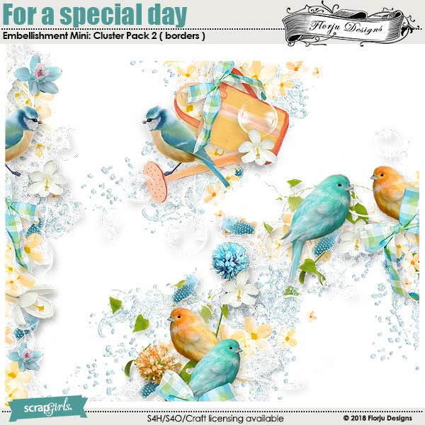 For a special day Embellishment Mini : Cluster 2 (Borders) by florju designs