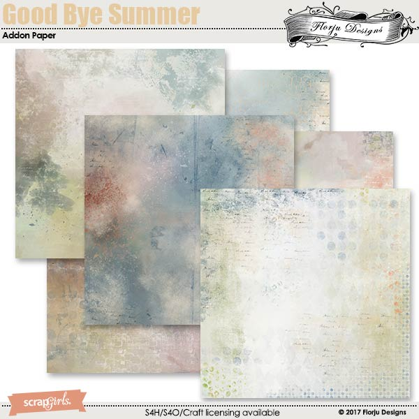 GoodBye Summer Addon Paper by florju designs