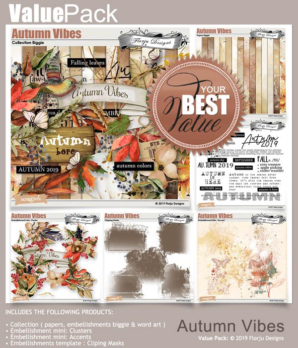Value Pack : Autumn Vibes by Florju Designs