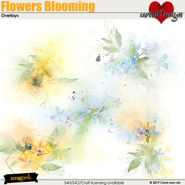 ScrapSimple Digital Layout Collection:Flowers Blooming