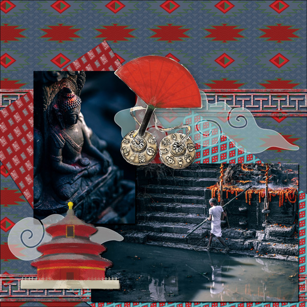 LO made with For Nepal Collection Mini by Caroline B.