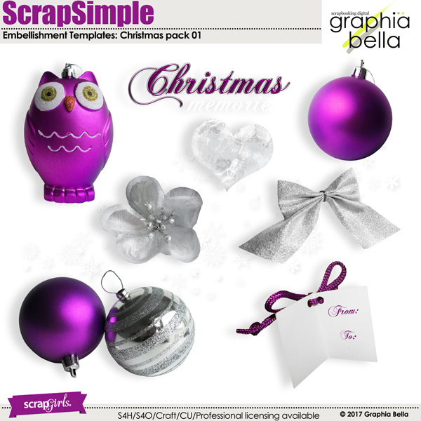 Scrap Simple Christmas pack 01 by Graphia Bella