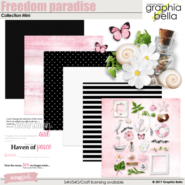 Freedom paradise Collection Mini by Graphia Bella