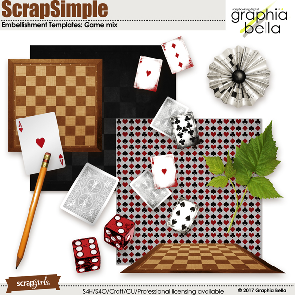 Game mix embellishments by Graphia Bella