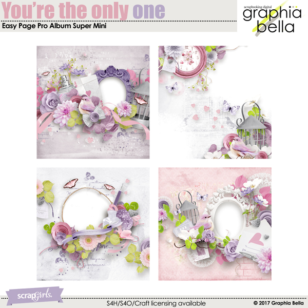 You're the only one Easy Page Pro Album Super Mini by Graphia Bella