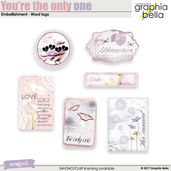 You're the only one Word Tag by Graphia Bella