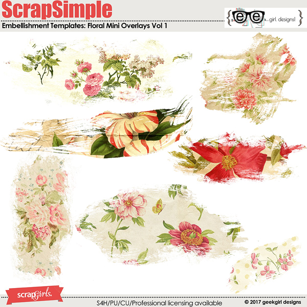 Floral Mini Overlays Vol 1