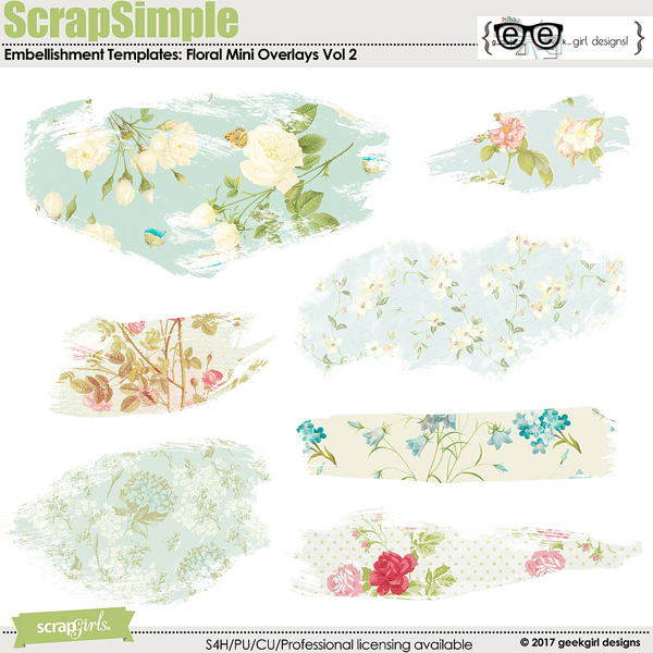 Floral Mini Overlays Vol 2