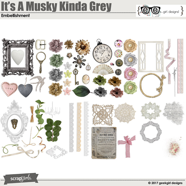 It's A Musky Kinda Grey Embellishments