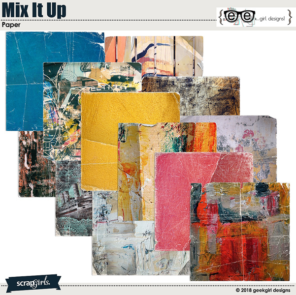 Mix It Up Papers by geekgirl designs