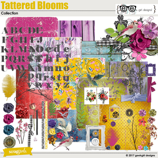 Tattered Blooms Collection
