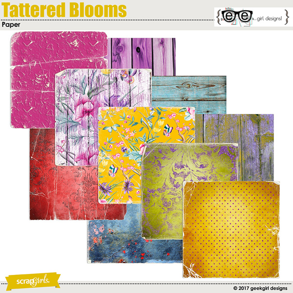 Tattered Blooms Paper