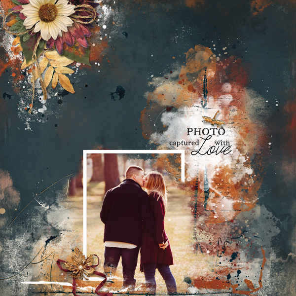 Captured With Love digital scrapbooking layout using Autumn Blessings Collections