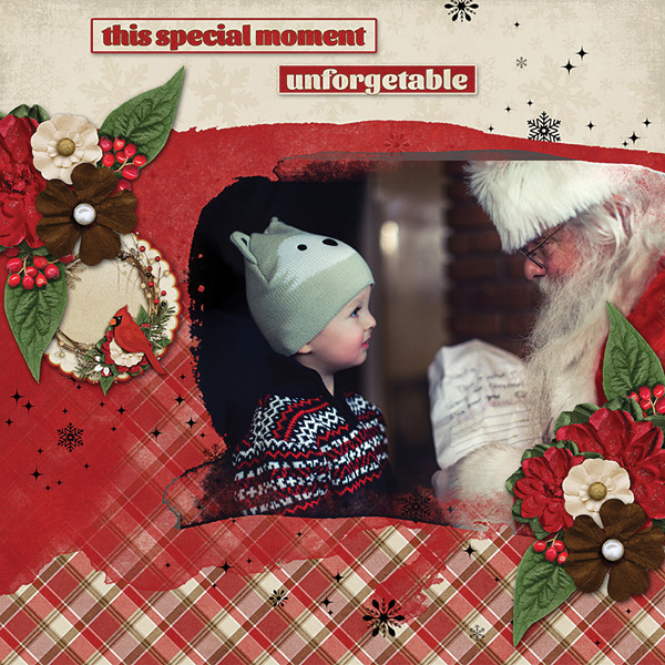 Special Momentdigital scrapbooking layout by Carmel Munro featuring December Memories Collections