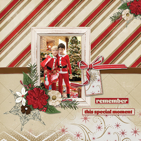 Santa's Helpers digital scrapbooking layout by Carmel Munro featuring December Memories Collections