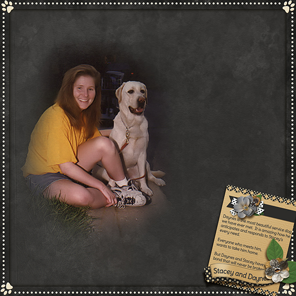 """Stacey and Daynes"" layout using the Furever Friends Collection"