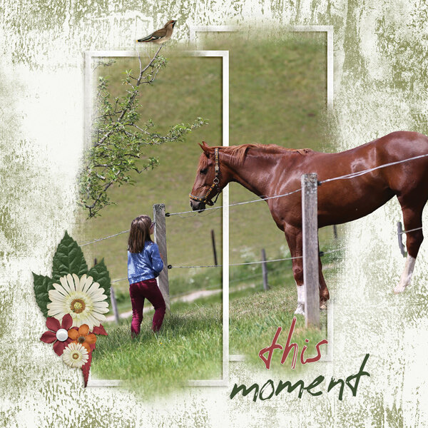 """This Moment"" digital scrapbooking layout using Grunge Effect Textures 2"