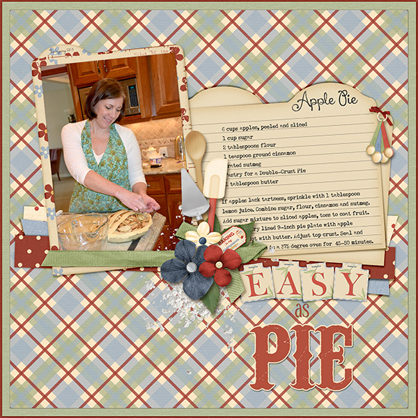 """Easy As Pie""  layout featuring Grandma's Kitchen Collections"