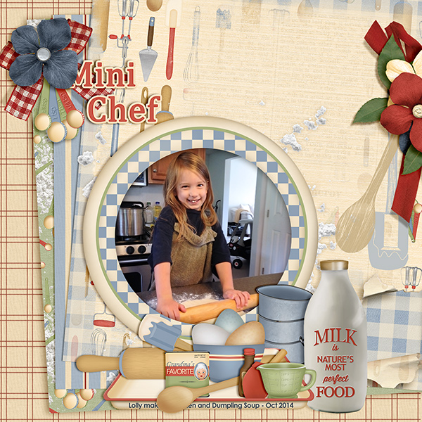 """""""Mini Chef""""  layout featuring Grandma's Kitchen Collections"""