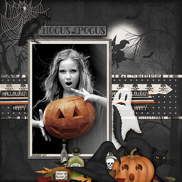 """Hocus Pocus"" layout featuring Haunted Halloween Collection Biggie"