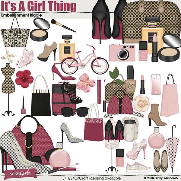 It's A Girl Thing Embellishment Biggie
