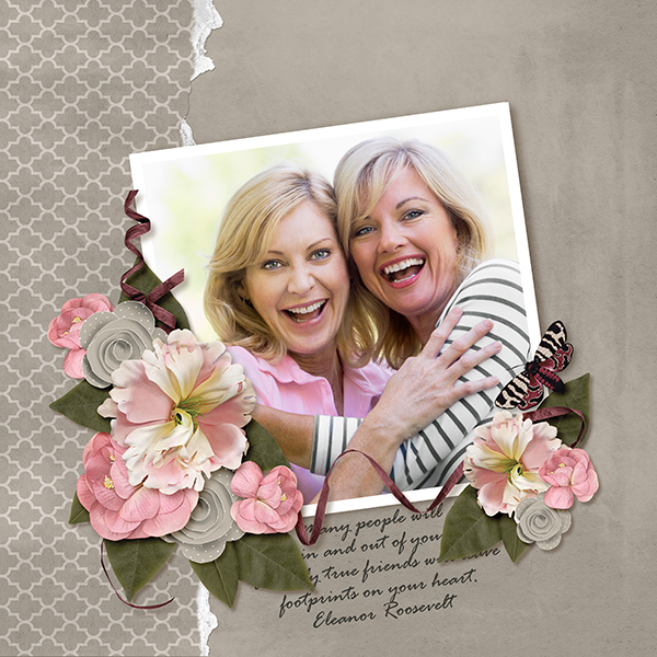 """Footprints"" layout by Ginny Whitcomb featuring the My Best Friend Collections"