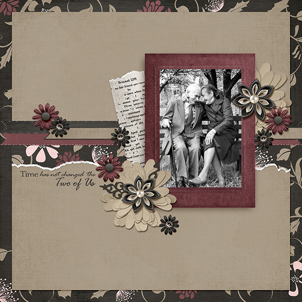 """The Two of Us"" layout by Ginny Whitcomb using the My Best Friend Collections"