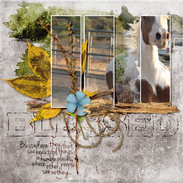 """""""Blessed"""" digital scrapbooking layout"""