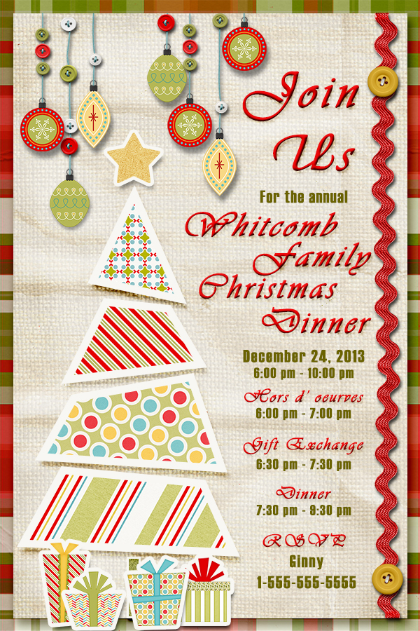 """Join Us"" digital Invitation digital Card using ScrapSimple Card Templates: 4x6 Vertical 1"
